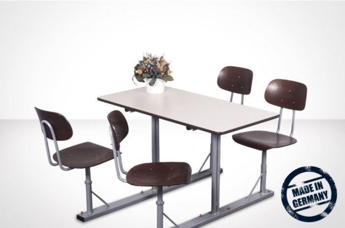 Stationäre Tisch-Stuhleinheit